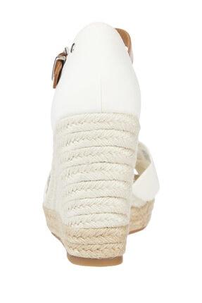 Tommy Hilfiger Kadın Beyaz Terlik Basıc Open Toe Hıgh Wedge FW0FW04784 1