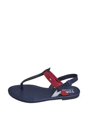 Tommy Hilfiger Kadın Mavi Sandalet Color Block Basıc Thong Sandal EN0EN00908 0