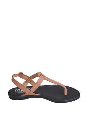 Tommy Hilfiger Kadın Turuncu Sandalet Color Block Basıc Thong Sandal EN0EN00908 3