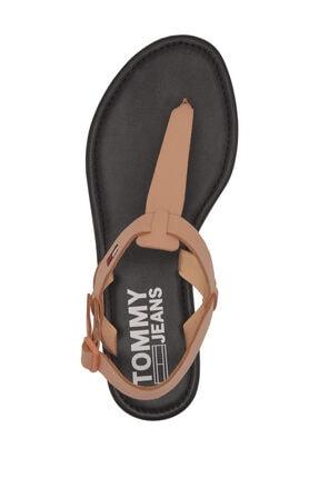 Tommy Hilfiger Kadın Turuncu Sandalet Color Block Basıc Thong Sandal EN0EN00908 4