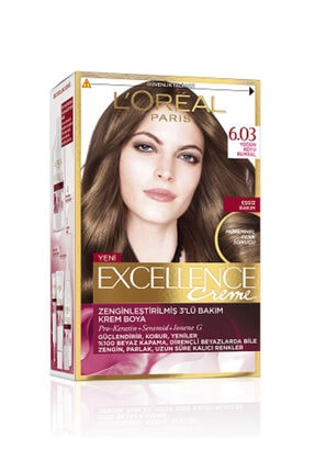 L'Oreal Paris Excellence Creme Saç Boyası 6.03 Yoğun Koyu Kumral 0