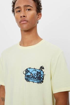 Bershka Uzun Kollu Baskılı T-shirt 2