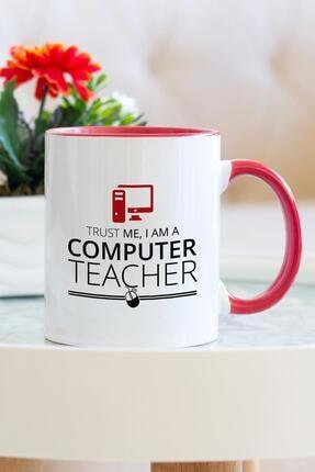 Hediyehanem Bilgisayar Öğretmeni Kırmızı Kupa Bardak 0