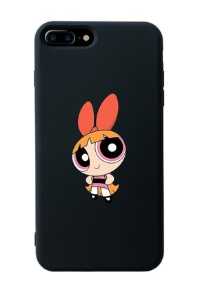 Mupity Blossom Tasarımlı Siyah Lansman Kılıf Iphone 7-8 Plus 0