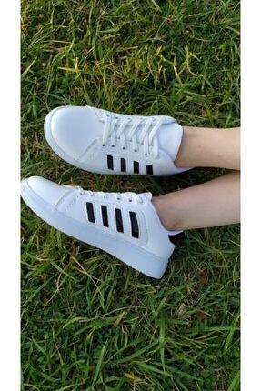 TangModa Kadın Beyaz Ortopedik Spor Ayakkabı 1