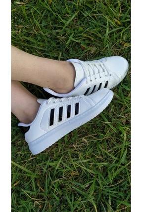TangModa Kadın Beyaz Ortopedik Spor Ayakkabı 3