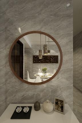 İkizlerçeyiz Wendy Dekoratif Konsol Aynası Ceviz / 46cm 0