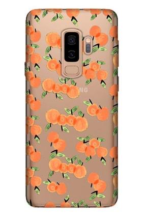 Cekuonline Samsung Galaxy S9 Plus Tıpalı Kamera Korumalı Silikon Kılıf - Portakal 0