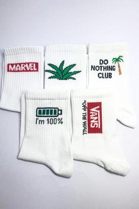 MEFA MARKET 5'li Kokulu Pamuk Uzun Çorap 0