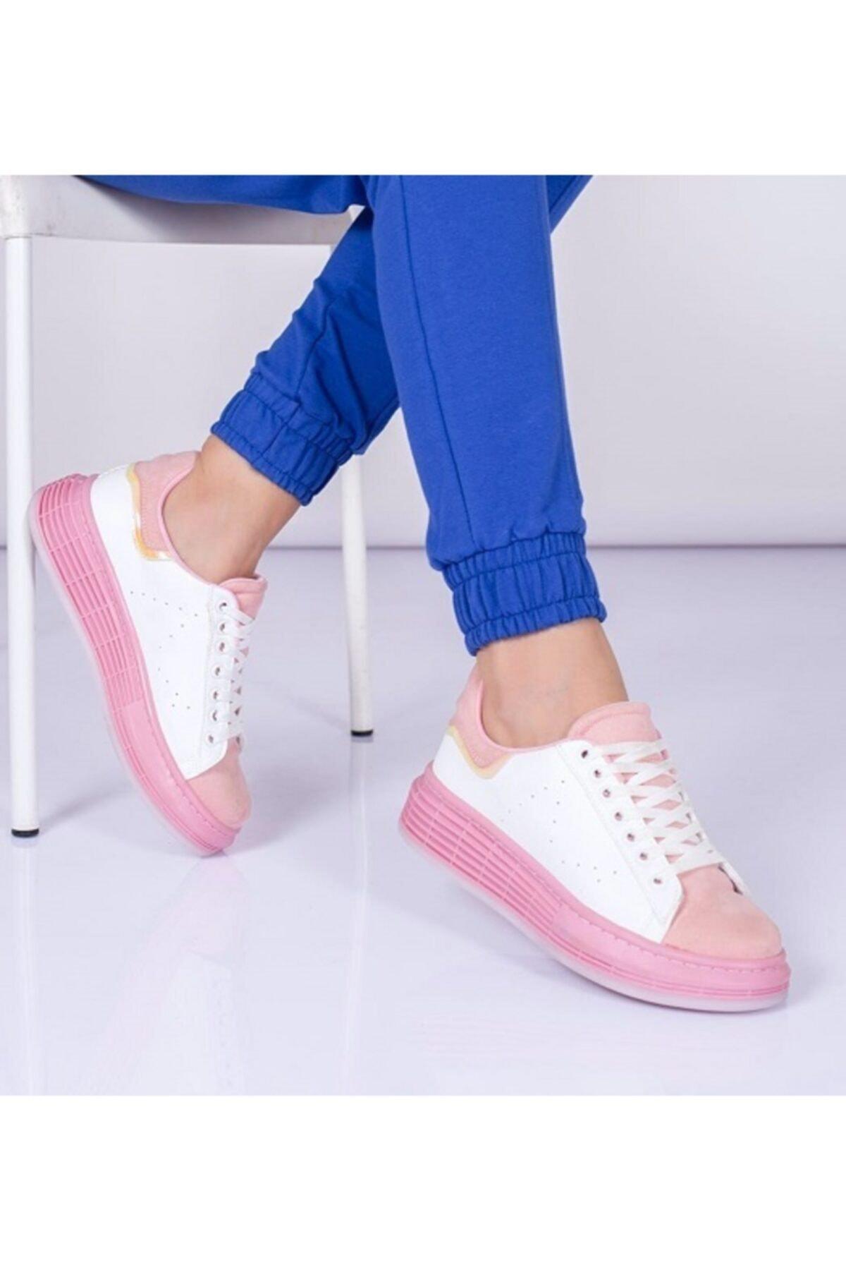 YOUWINNER Kadın Pembe Günlük Spor Ayakkabı