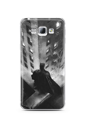 Spoyi Samsung A8 2015 Batman Tasarım Süper Şeffaf Silikon Telefon Kılıfı 0