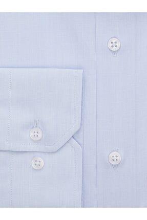 EMNANA Buz Mavisi Pamuklu Slim Fit Gömlek 2