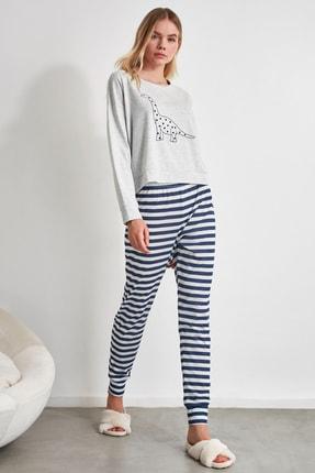 TRENDYOLMİLLA Baskılı Örme Pijama Takımı THMAW21PT0240 2