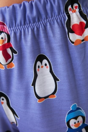 TRENDYOLMİLLA Penguen Baskılı Örme Pijama Altı THMAW21PJ0019 2