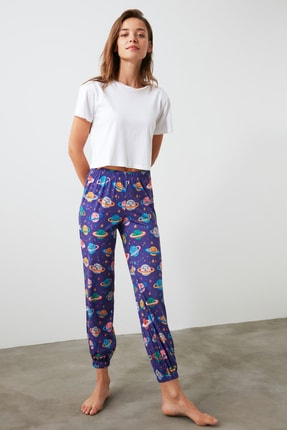 TRENDYOLMİLLA Galaksi Baskılı Pijama Altı THMAW21PJ0020 0