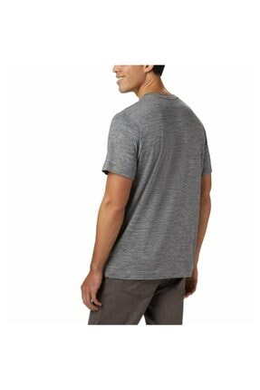 Columbia Erkek Gri Tech Trail Iı V Neck Outdoor T-shirt 1