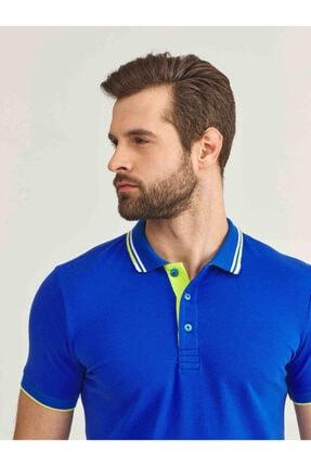 Mcl Giyim Erkek LacivertPolo Yaka Pamuklu Slim Fit Büyük Beden T-Shirt 1
