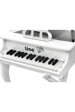 Lino Ahşap 30 Tuşlu Kuyruklu Beyaz Piyano 1