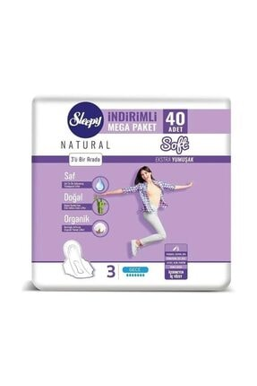 Sleepy Natural Soft Ekstra Yumuşak Gece (40 Ped) Mega Paket 1