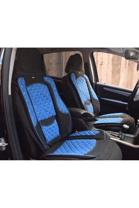 AutoEN Volkswagen Passat B8 Takmatik Ön Oto Koltuk Kılıfı Minder Mavi Siyah Dikişli 1