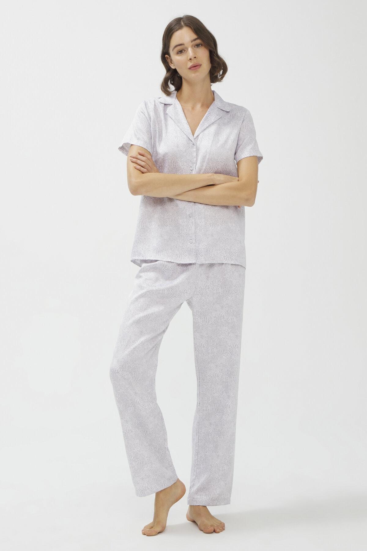 Stone Satin SS Pijama Takımı