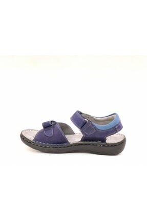 Toddler Erkek Çocuk Lacivert  Deri Sandalet 2