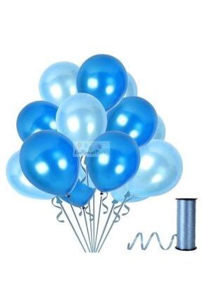 KullanAtParty Metalik Sedefli Parti Balonları Beyaz Pembe Karışık-100 Adet 2