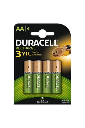 Duracell Rechargeable AA 1300 MH 4'lü 0