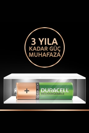 Duracell Rechargeable AA 1300 MH 4'lü 2