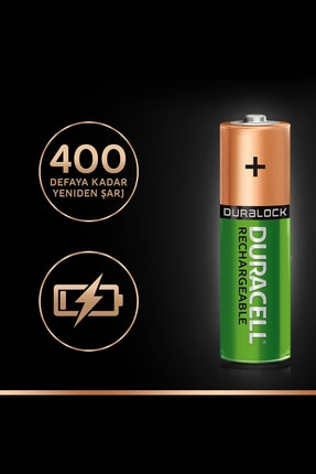 Duracell Rechargeable AA 1300 MH 4'lü 3