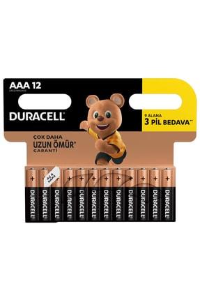 Duracell Pil Aaa İnce Kalem 12Li (9+3) 0