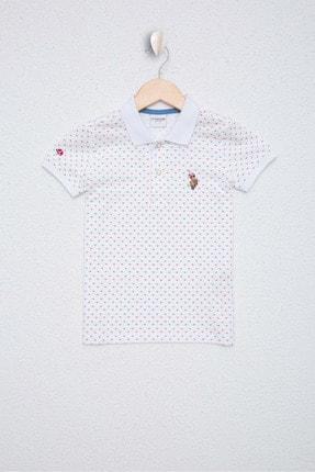 US Polo Assn Beyaz Erkek Çocuk T-Shirt 0
