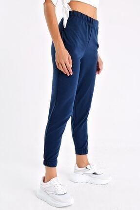 Tencrop Kadın Lacivert Yüksek Bel Cepli Yürüyüş Pantolonu 1