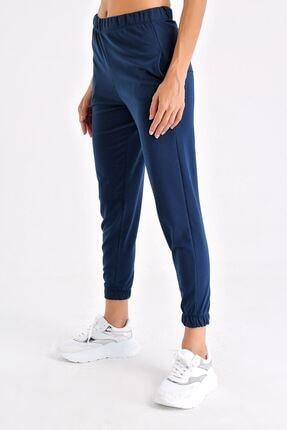 Tencrop Kadın Lacivert Yüksek Bel Cepli Yürüyüş Pantolonu 2
