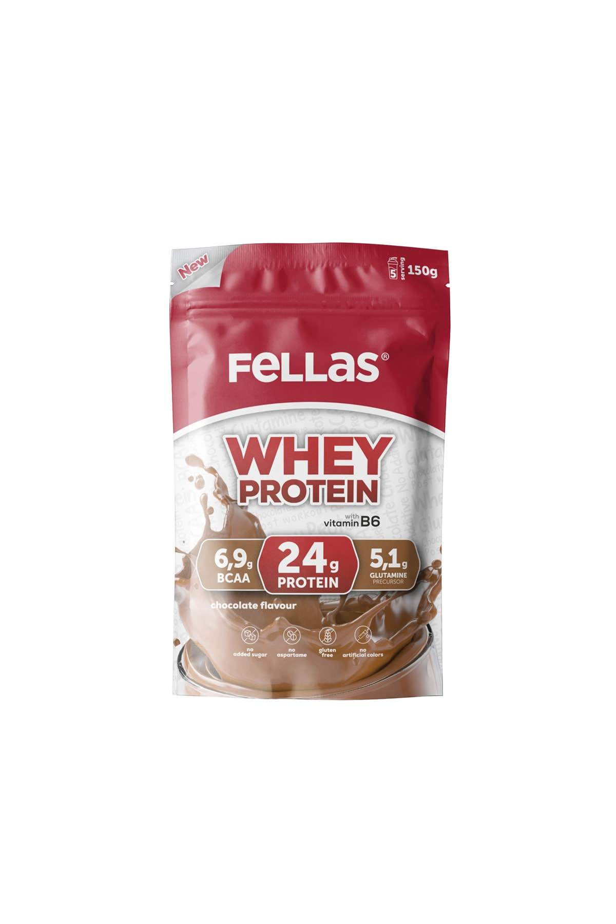 Çikolata Aromalı Protein Tozu 150 g  5 Porsiyon - Çikolata Aromalı