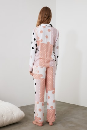 TRENDYOLMİLLA Patch Desen Dokuma Pijama Takımı THMAW21PT0046 3
