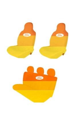 Antwax Reno Symbol Koltuk Kılıfı Oto Koltuk Servis Kılıfı Ford-turuncu 2