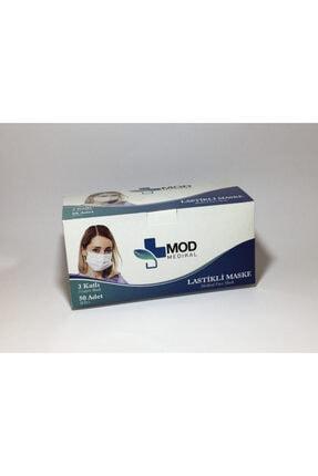 Mask Unisex Mavi Ultrasonik Cerrahi E  3 Katlı Telli Yüz Esi 50 Ad 0