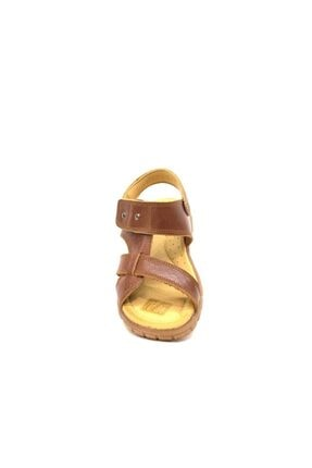 Toddler Erkek Çocuk Kahverengi Hakiki Deri Sandalet 2356 1