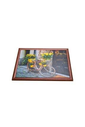 Yedi Home&Decor Keyif Tepsisi_flower Bike (bilgisayar Ve Kahvaltı Tepsisi) 1