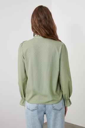 TRENDYOLMİLLA Mint Puantiyeli Gömlek TWOAW21GO0282 3