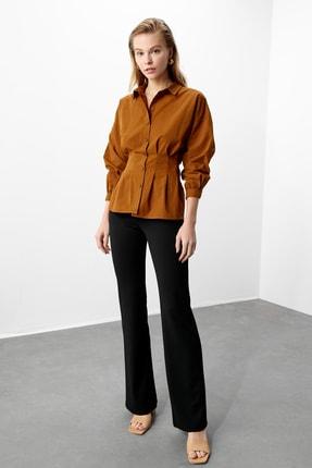 TRENDYOLMİLLA Kahverengi Basic Gömlek TWOAW21GO0281 0