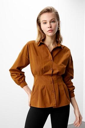 TRENDYOLMİLLA Kahverengi Basic Gömlek TWOAW21GO0281 1