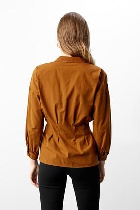 TRENDYOLMİLLA Kahverengi Basic Gömlek TWOAW21GO0281 3