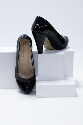 epaavm Kadın Siyah Rugan Klasik Topuklu Ayakkabı 2