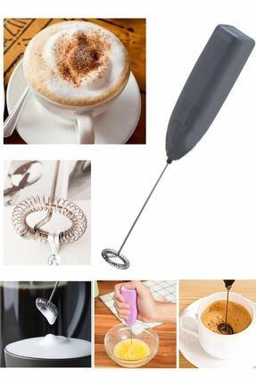 MOBGİFT Pilli Mini Mixer Kahve Cappuccino Karıştırıcı Süt Köpürtücü 0