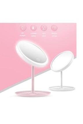 365GUNSERİSONU 90 Derece Dönebilen Pembe Şarjlı Led Dokunmatik Ayaklı Masa Makyaj Aynası 4