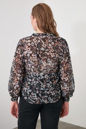 TRENDYOLMİLLA Siyah Çiçekli Gömlek TWOAW21GO0080 1