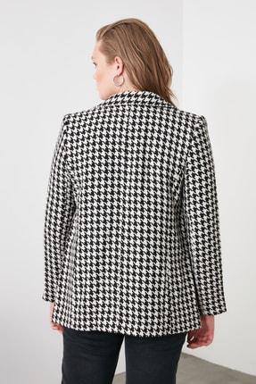 TRENDYOLMİLLA Siyah Kazayağı Blazer Ceket TWOAW20CE0201 3