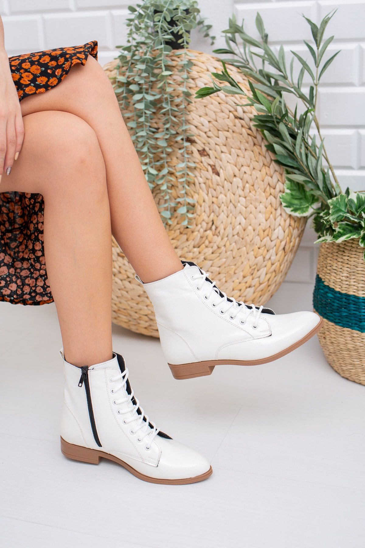 Moda Değirmeni Beyaz Cilt Kadın Bot Md1011-116-0001